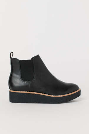 Faux Leather Ankle BootsModel