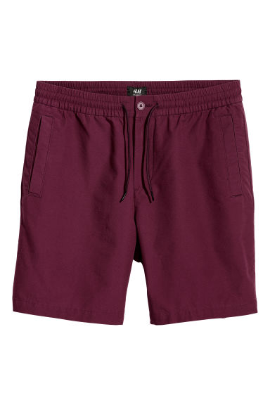 Cotton shorts - Burgundy - Men | H&M IE