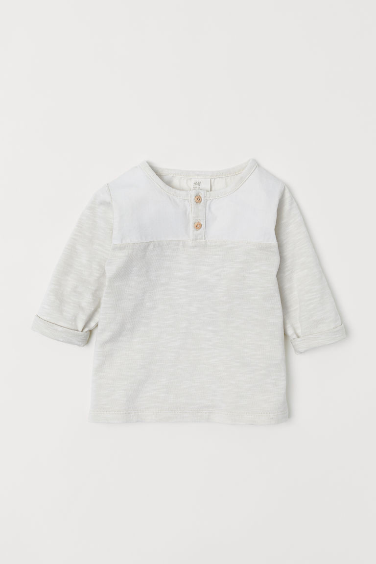 Henley top - Natural white - Kids | H&M