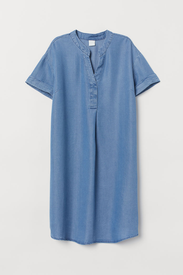 V-neck dress - Denim blue - Ladies | H&M