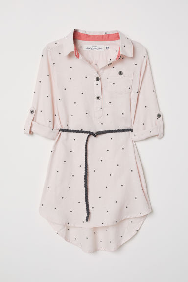 Shirt dress - Light pink/Spotted - Kids | H&M