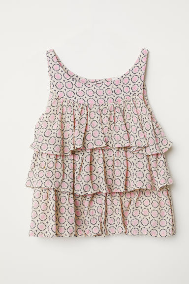 Frilled blouse - Beige/Patterned - Kids | H&M CN