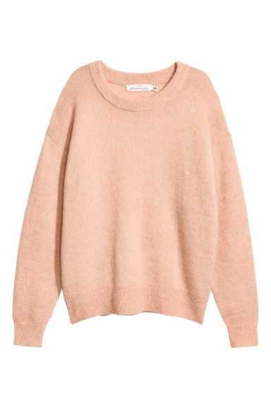 Fine-knit, wool-blend jumper - Powder pink - Ladies | H&M