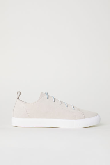 Suede trainers - Light beige -  | H&M