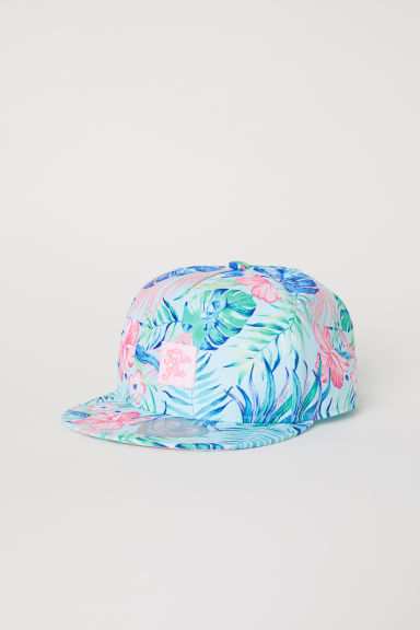 Cap with a motif - Light turquoise/Botanical - Kids | H&M CN