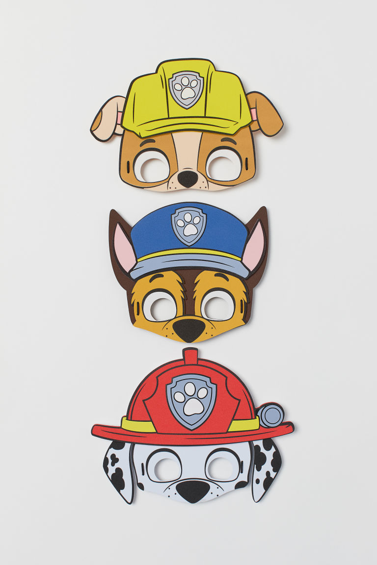 3-pack fancy dress masks - Blue/Paw Patrol - Kids | H&M CN