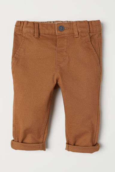 Cotton chinos - Camel - Kids | H&M