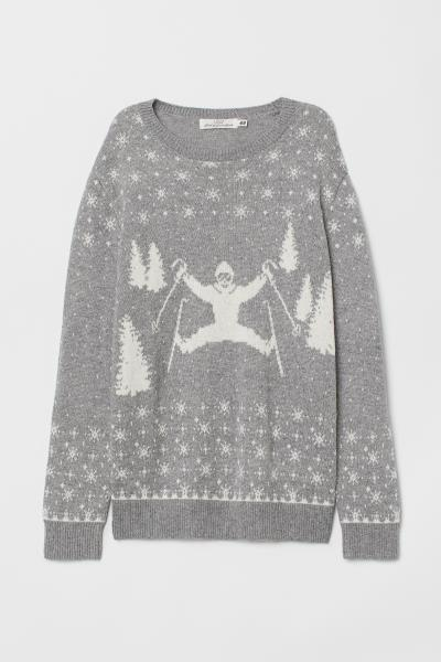 a1aaff240bb6 Fine-knit Sweater - Red/Oh Deer - Ladies | H&M CA