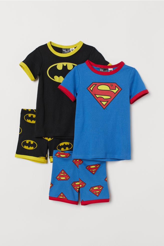 2 db-os dzsörzépizsama szett - Black Batman Blue Superman - GYEREK ... 73e98ed204