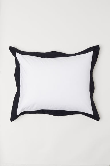Oxford-style Pillowcase - White/black - Home All | H&M CA