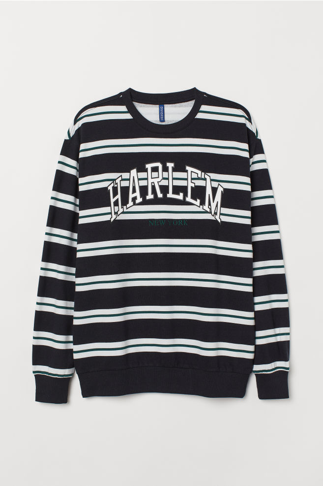 598c481f5224 Sweatshirt with a motif - Black Harlem - Men