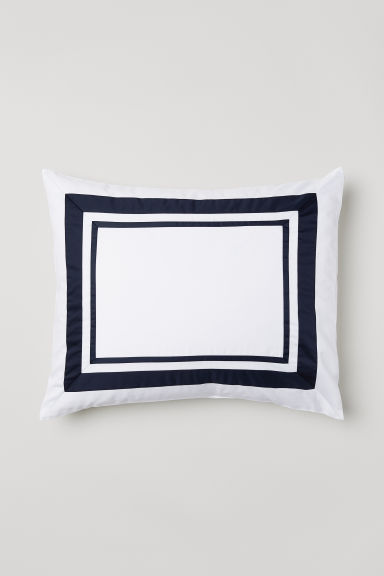 Federa in satin di cotone - Blu scuro - HOME | H&M IT