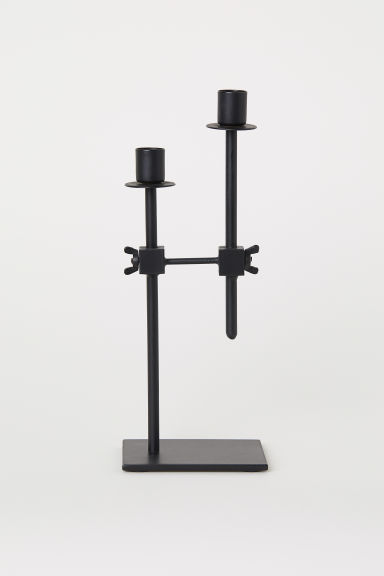 Metal Candlestick - Black - Home All | H&M CA
