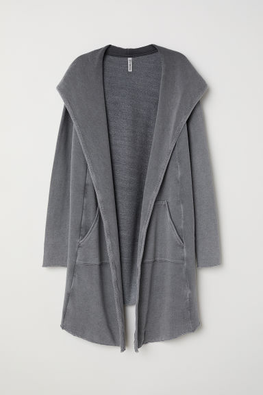 Sweatcardigan mit Kapuze - Grau - Ladies | H&M AT