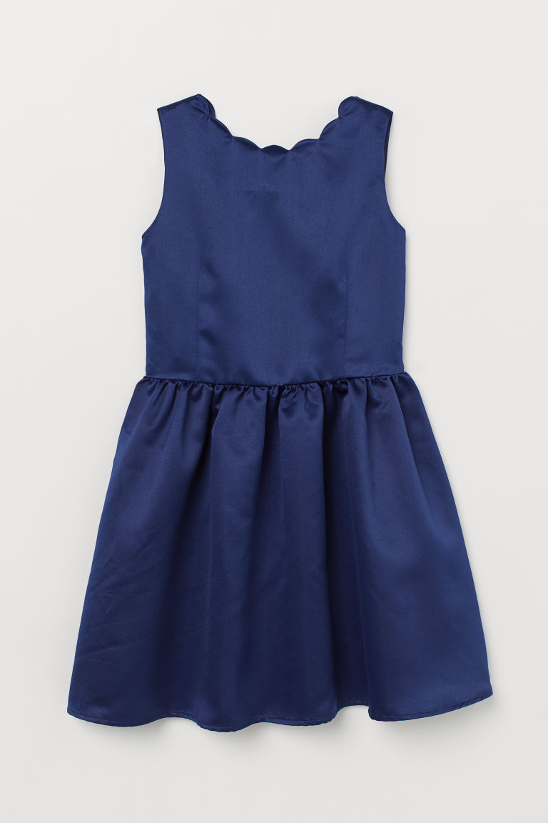 Satin dress - Dark blue - Kids | H&M
