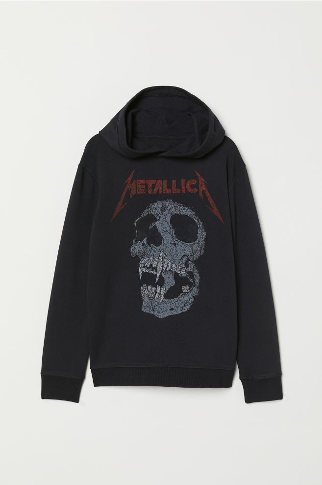 Printed Hooded Sweatshirt - Black Metallica - Kids  c2393cfe21c
