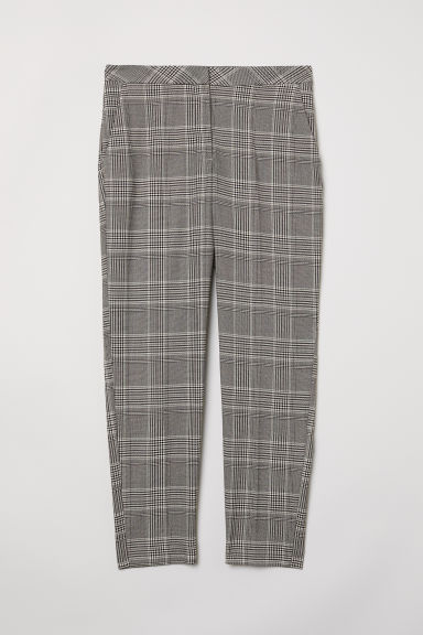 Tailored trousers - Grey/Checked - Ladies | H&M CN