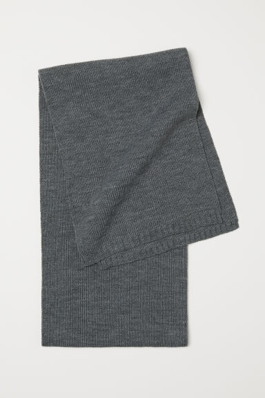 Ribbed scarf - Grey - Men | H&M CN