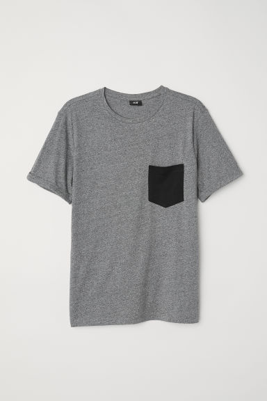 Cotton T-shirt - Dark grey - Men | H&M
