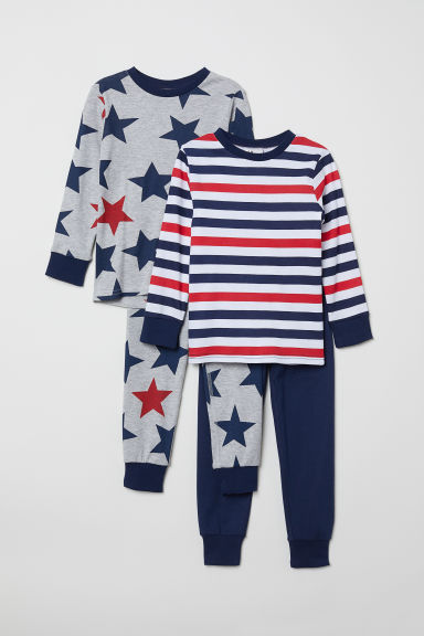 2er-Pack Pyjamas - Weiß/Gestreift - Kids | H&M DE
