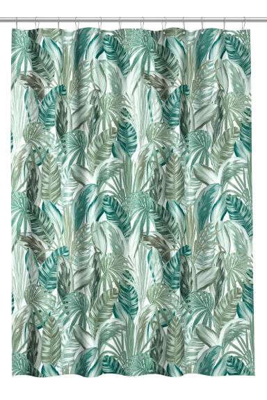 Shower curtain - Green/Leaf patterned -  | H&M GB