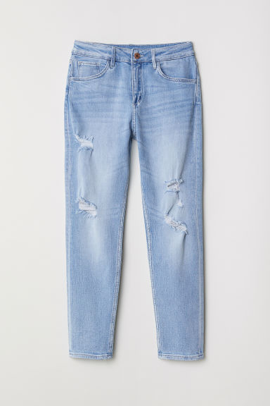 Relaxed Tapered Fit Jeans - Azul denim claro -  | H&M PT