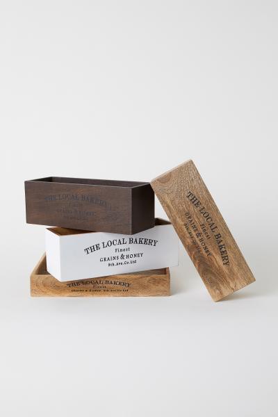 H&M - Caja de madera rectangular - 3