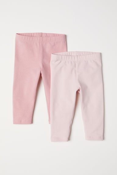 2-pack leggings - Pink/Light pink - Kids | H&M