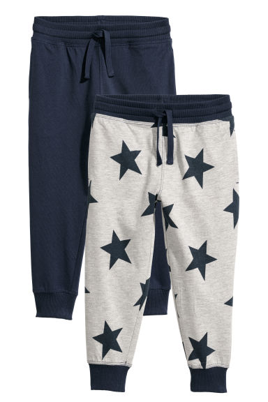 2er-Pack Joggers - Graumeliert/Sterne - Kids | H&M AT