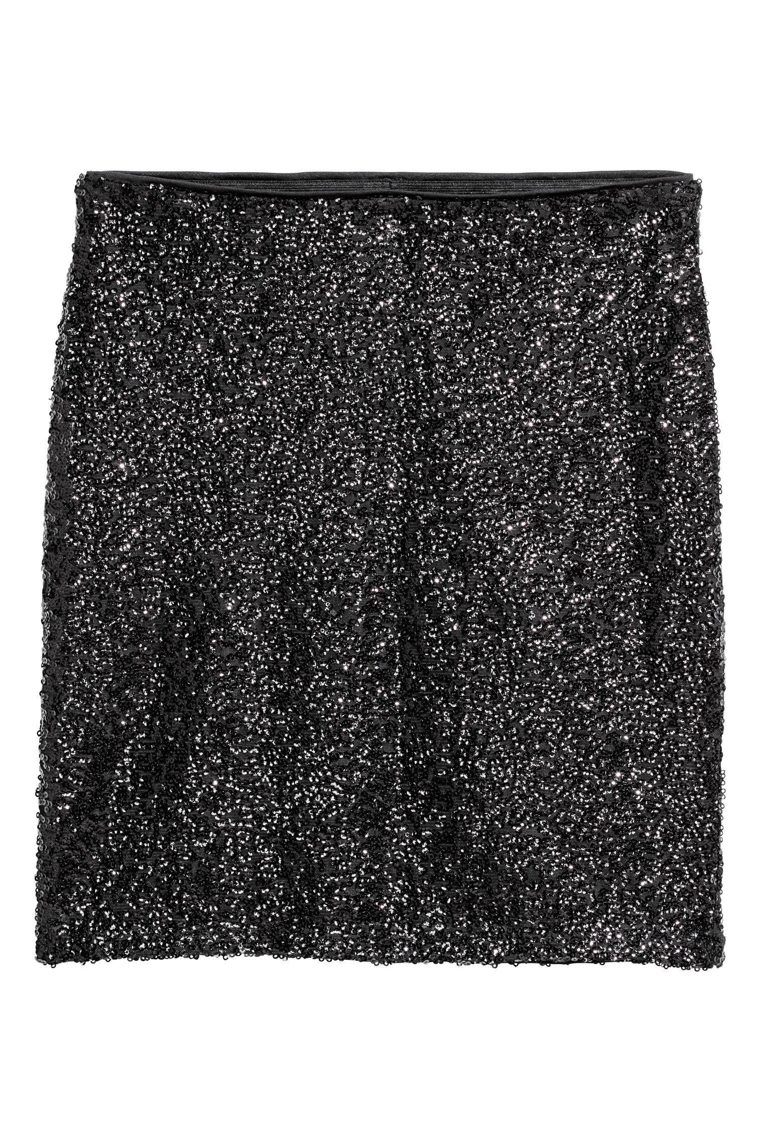 2b32c38d6de Jupe scintillante - Noir paillettes -