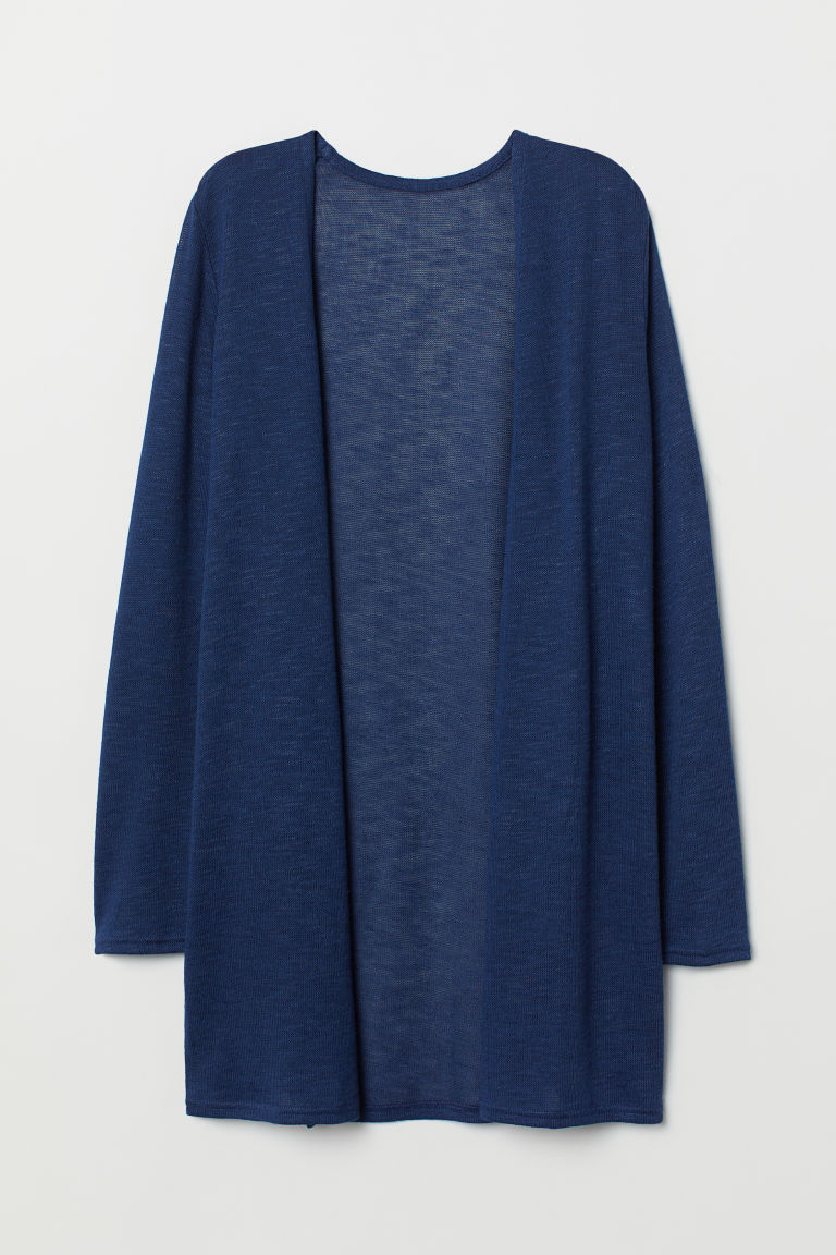 Loose-knit Cardigan - Dark blue -  | H&M US