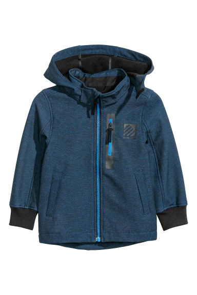 Giacca softshell - Blu scuro mélange -  | H&M IT