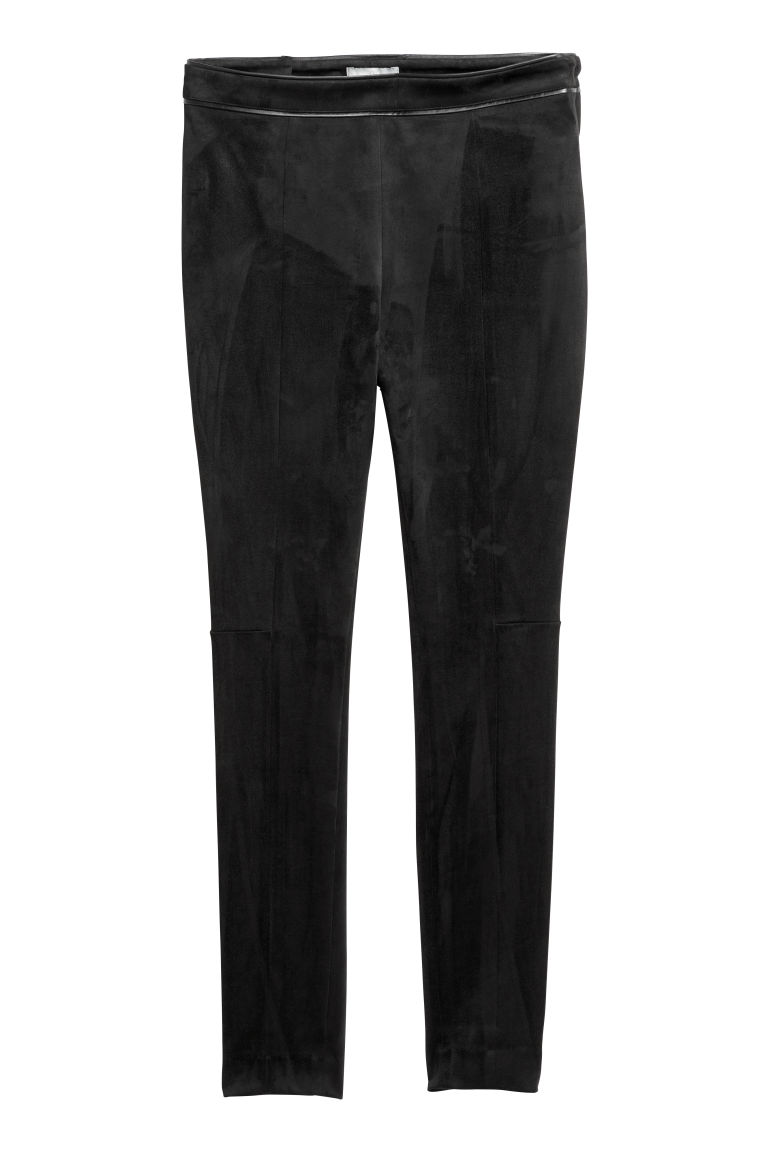 d5f857daf55361 Faux Suede Pants - Black - Ladies | H&M US