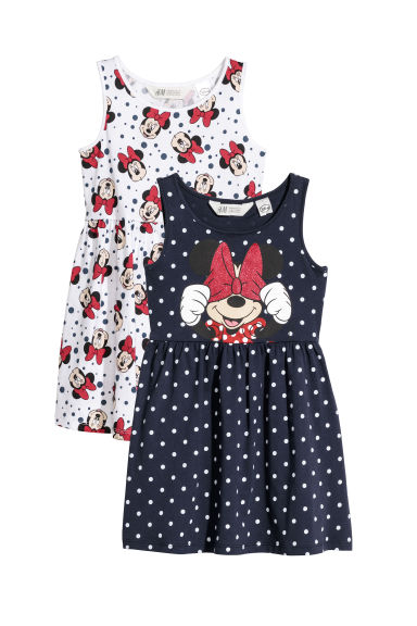 2-pack jersey dresses - Dark blue/Minnie Mouse -  | H&M CN