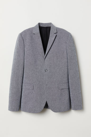 Cotton jacket Slim Fit - Grey marl - Men | H&M CN