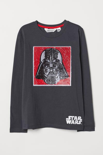 0ff6ffb10 Shirt with Motif - Dark gray/Star Wars - Kids | H&M US