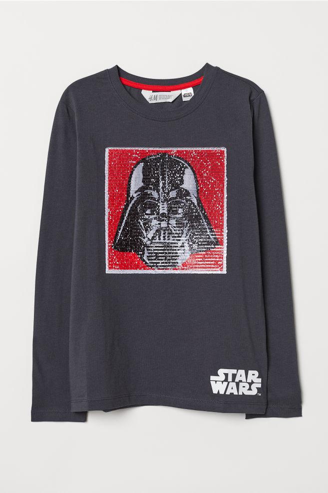 9907c74e329ae T-shirt avec motif - Gris foncé/Star Wars - ENFANT | H&M CH