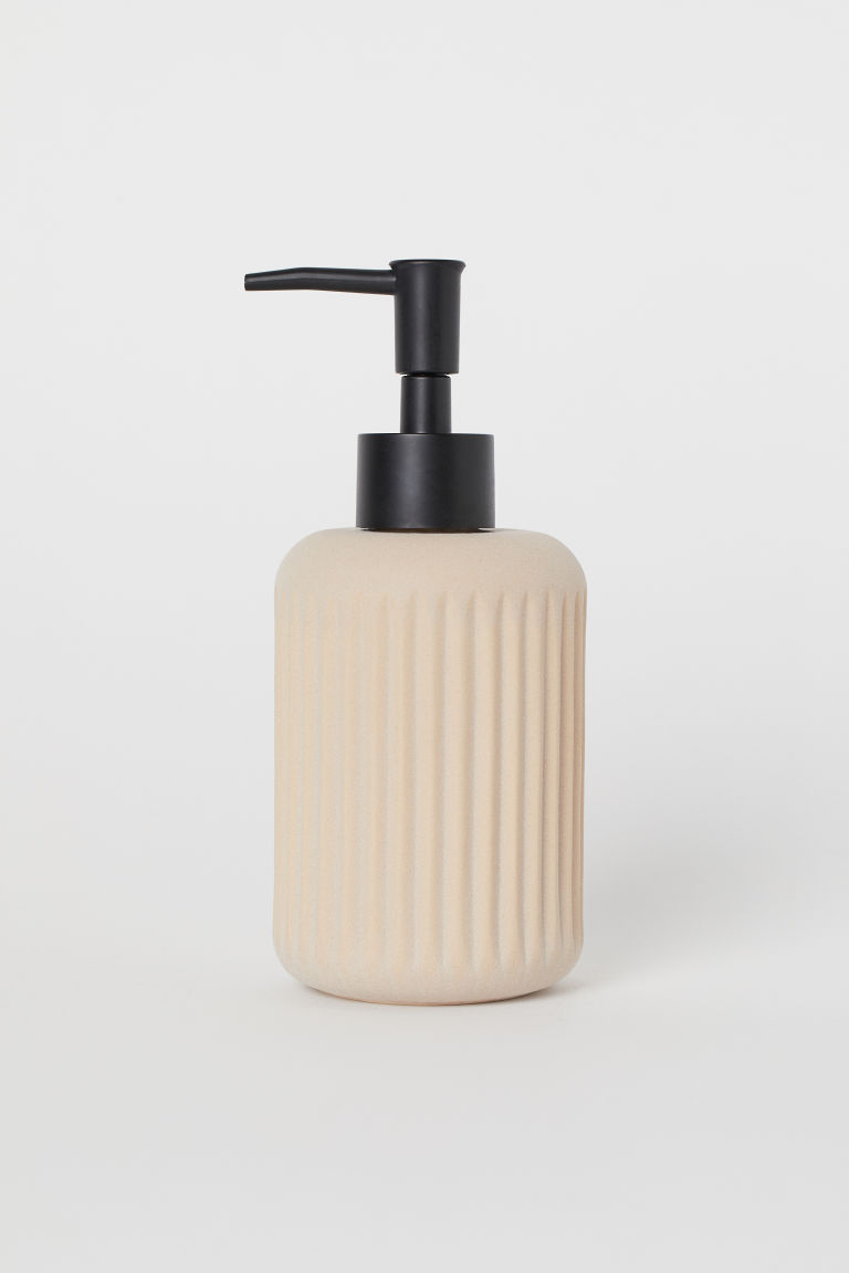 Ceramic Soap Dispenser - Beige - Home All | H&M US