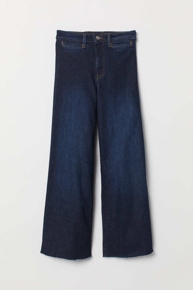 Culotte High Ankle Jeans - Dark blue denim -  | H&M