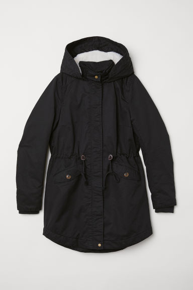 Padded Parka with Hood - Black - Ladies | H&M US