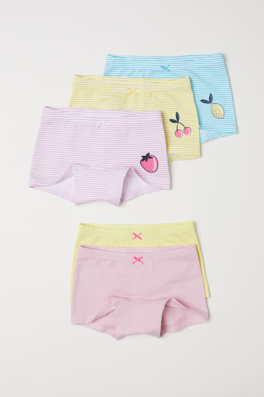5-pack boxer briefs - Yellow/Striped - Kids | H&M CN
