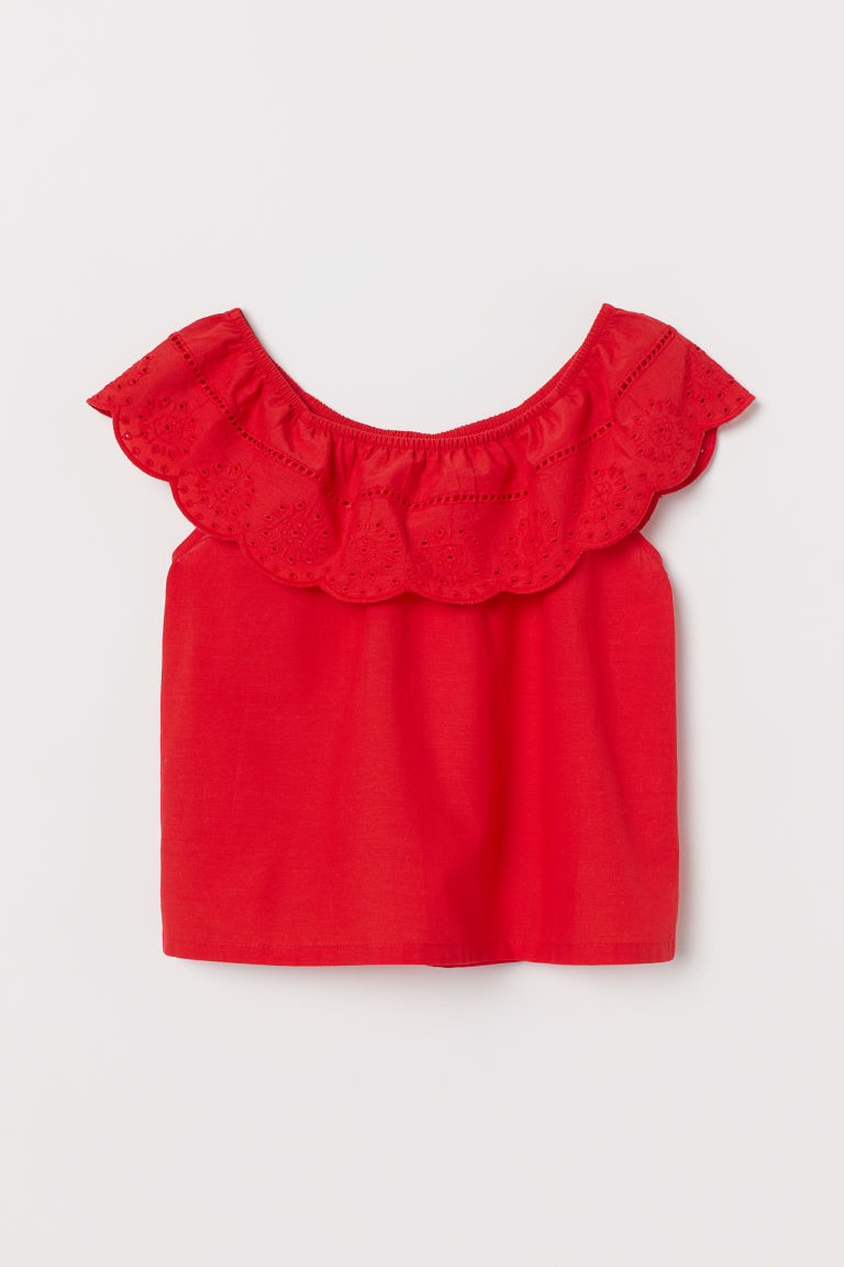 Blouse - Red - Kids | H&M US
