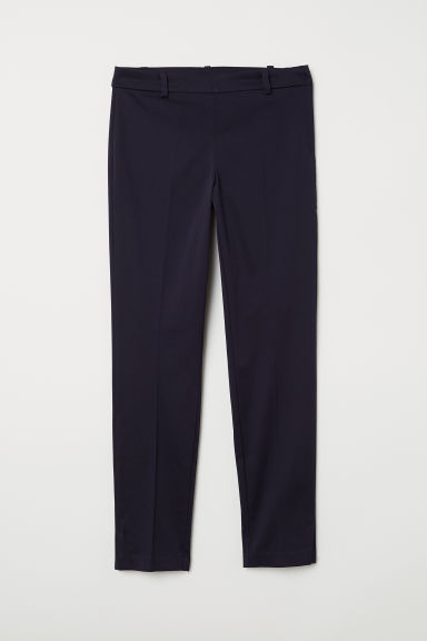 Cigarette trousers - Dark blue - Ladies | H&M