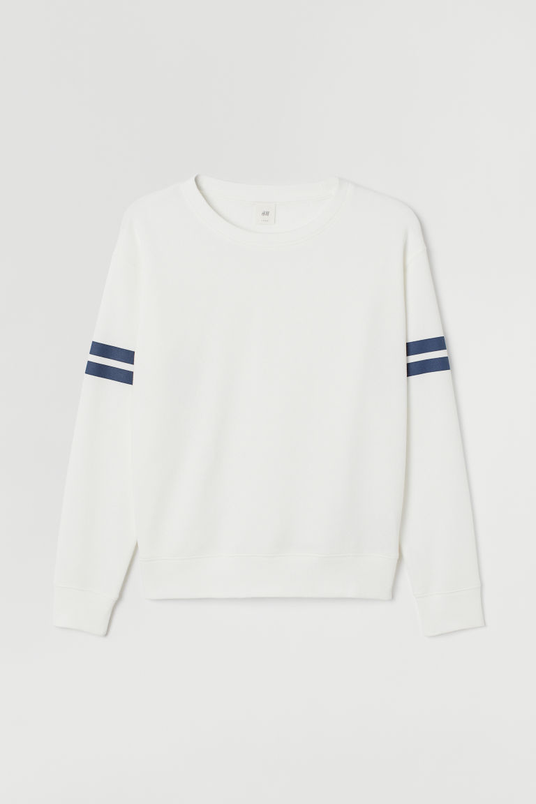 Sweater - Wit/donkerblauw - DAMES | H&M BE