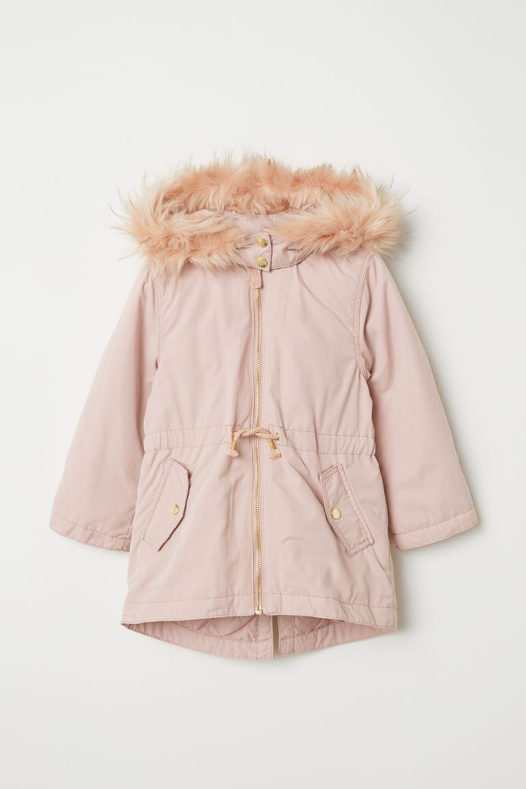 Padded parka - Powder pink - Kids | H&M