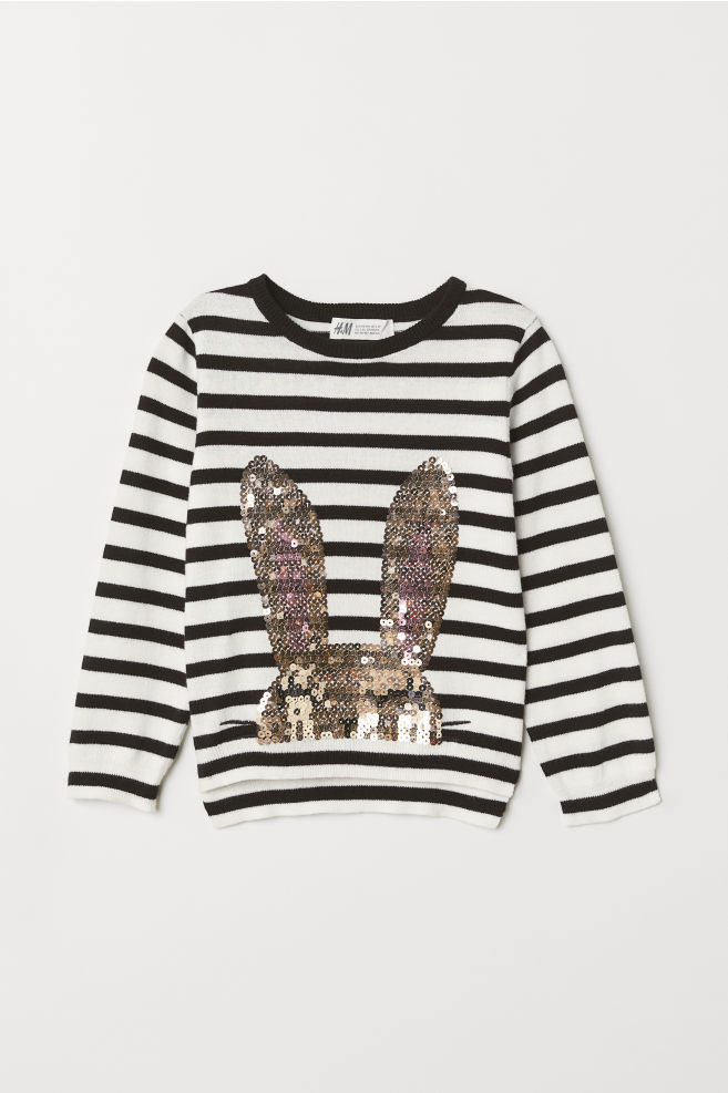 a77bfac11 Jumper with a sequined motif - White Rabbit - Kids