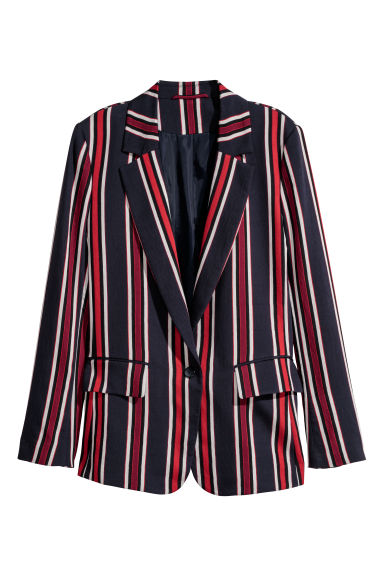 Jacket - Dark blue/Striped -  | H&M