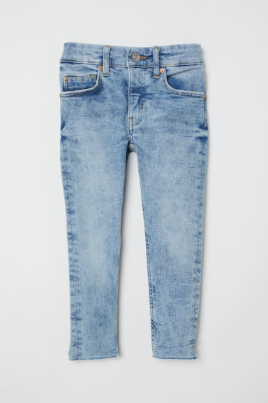 Superstretch Skinny Fit Jeans - 浅牛仔蓝 - Kids | H&M CN