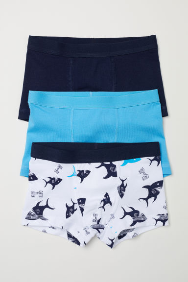 3-pack boxer shorts - Turquoise/Sharks - Kids | H&M