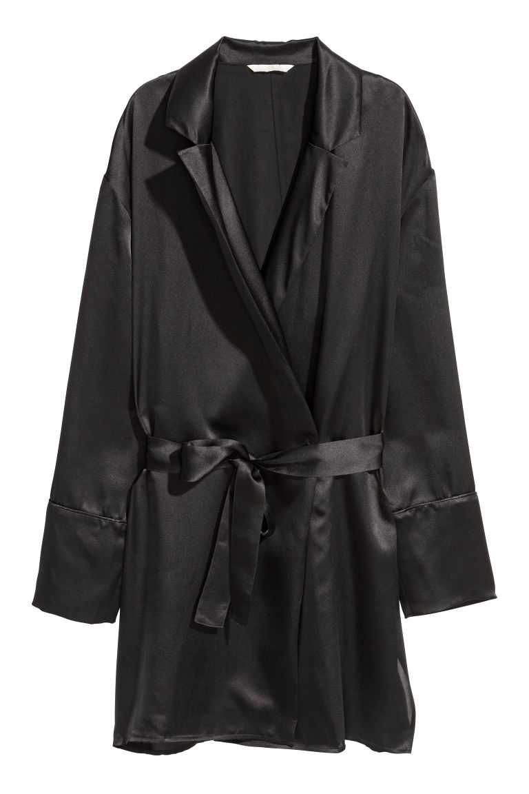 Silk jacket - Black - Ladies | H&M